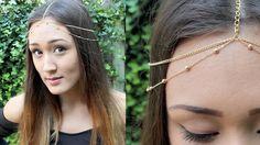 DIY: Chain Head Piece (Headchain) http://www.youtube.com/watch?v=nIno8iimc_4