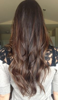 Brown slight balayage