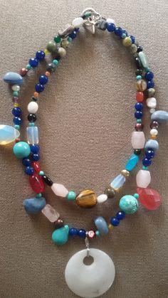 "Semiprecius stone necklace from ""peridereo"" by Olga Roussi-Louca"