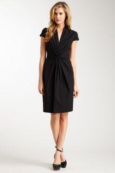 HUGO BOSS Black Short Sleeve V-Neck Dress @HauteLook