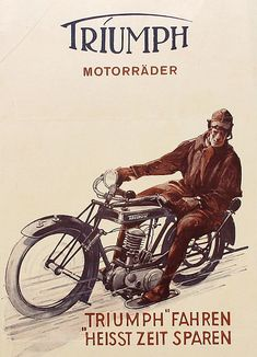 Triumph motorcycles - brochure 1925 by Fine Cars, via Flickr