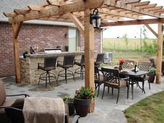 20 Outdoor Kitchens and Grilling Stations | Outdoor Spaces - Patio Ideas, Decks & Gardens | HGTV #outdoorkitchengrillideas