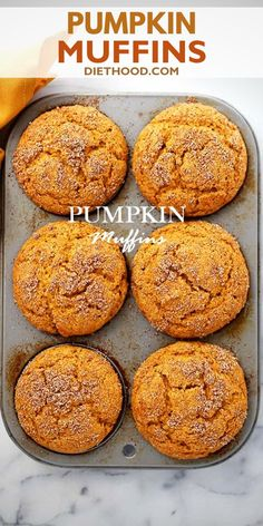 PUMPKIN MUFFINS! Pumpkin Muffins – Packed with pumpkin and topped with cinnamon sugar, these Pumpkin Muffins are soft, fluffy, super moist, and absolutely delicious! The best we've ever made. Sweet Pumpkin Recipes, Pumpkin Puree Recipes, Fall Recipes, Snack Recipes, Dessert Recipes, Sugar Pumpkin, Fall Breakfast, Fall Baking, Easy Desserts