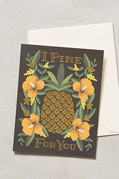 I Pine For You Card - anthropologie.com #anthrofave