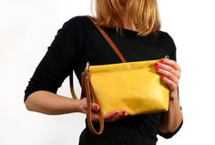 Lemon Clip Frame Bag Girl's Night Out Pouch by LABOURofART