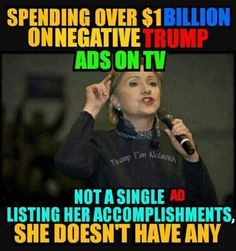 "Oh no wait. Hillary built up well over a $50 million fortune while working for the government! And her supporters think she's going to fight for ""income equality!"" ~ TRUMP 2016 ~ RADICAL Rational Americans Defending Individual Choice And Liberty"