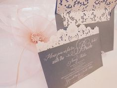 Vintage & Lace feel Tea Party Invitation with the Bride to be! xo embellishments