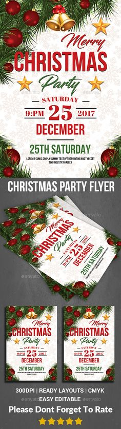 #Christmas Party #Flyer - Events Flyers