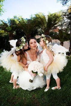 { Fairy Flower Girls - white }