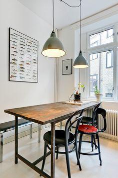 Kitchen, diningtable, industrial