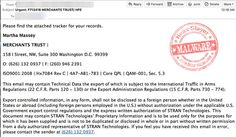 'Attached Tracker For Your Records' Macro Malware Emails