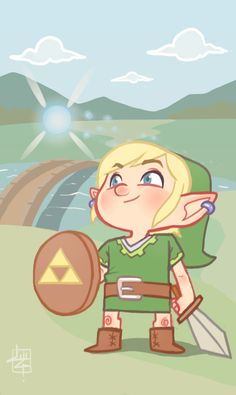 Link and Navi by *LuigiL on deviantART
