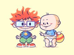 Lil BFFs - Rugrats by Dennis Salvatier Cartoon Cartoon, Cartoon Kunst, Cartoon Shows, Nickelodeon Cartoons, Disney Cartoons, Rugrats, Disney Drawings, Cartoon Drawings, Cute Drawings