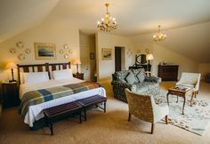 Rathmullan House Four Star Country House Hotel Restaurant Donegal Ireland Country House Hotels, Blue Books, Donegal, Guest Room, Bedroom Decor, Restaurant, Ireland, Rooms, Furniture