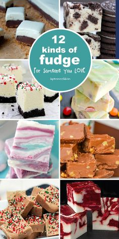 These fudge recipes look delicious and will make perfect Christmas gifts. Click on the image to see all of the recipes.