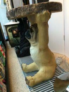 Bijzettafel 'Mops Hond'