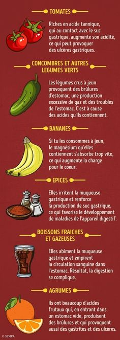 20 Aliments que tu peux manger à jeun et ceux que tu ne dois pas - Foods you can eat on an empty stomach and those you can not eat - # an empty stomach those Healthy Snacks, Healthy Recipes, Raw Vegetables, Perfect Breakfast, Heartburn, Foods To Eat, Diet Menu, Food Videos, Health And Beauty
