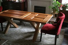 """So you want to know how to make a wooden dining room table, or even get some idea if this is a """"do able"""" project? We'll start with good wood choices, measuring out, cutting, the making of the table, finishing off - everything you need to know with useful advice. We even take a look at how to repurpose an old door and convert it to a table."""