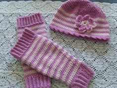Baby Legwarmers and Hat Crochet by susanstreasures on Etsy, $25.00