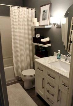 20 Most Popular Small Apartment Bathroom Decor Ideas – Diy Bathroom İdeas Diy Bathroom Remodel, Bathroom Renovations, Bathroom Ideas, Bathroom Makeovers, Budget Bathroom, Shower Ideas, House Remodeling, Remodeling Ideas, Bathroom Designs