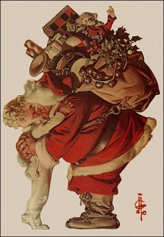 Santa Hugging Child J. C. Leyendecker