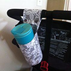 BOB stroller DIY drink holder - sängyn viereen tämmönen kiitos :D