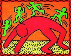 Keith Haring was an American artist know for his graffiti style art. His art was inspired by cartoons and graffiti. Jasper Johns, Arte Pop, Graffiti Drawing, Graffiti Art, K Haring, Image Pinterest, Keith Allen, Keith Haring Art, Street Art
