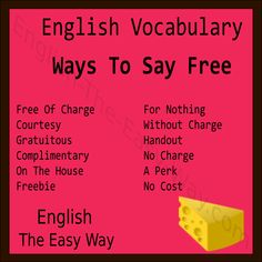 """How do you say """"free"""" in your language? #EnglishVocabulary"""