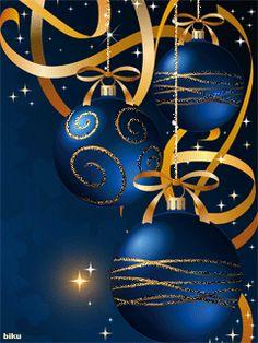 GIFS HERMOSOS: COSAS NAVIDEÑAS ENCONTRADAS EN LA WEB Christmas Tree With Gifts, Merry Christmas And Happy New Year, Blue Christmas, Christmas Greetings, Beautiful Christmas, Christmas Bulbs, Christmas Holidays, Animated Christmas Tree, Christmas Scenes