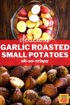 Garlicky, buttery, and oh-so-crispy, our Garlic Butter Potatoes make a delicious side dish for every meal from beef to chicken. Butter Potatoes, Best Side Dishes, Side Dish Recipes, Creamy Pasta Bake, Sunday Suppers, Healthy Vegetables, Side Salad, Baked Beans