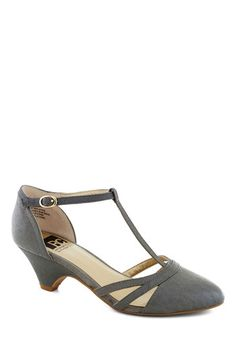 Just Prance Heel in Grey, #ModCloth