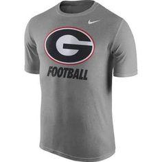 4819694efdc3 NCAA Georgia Bulldogs Nike Legend Logo Heather Grey Dri-Fit Shirt Georgia  Bulldogs T Shirts