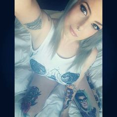 Inked beauty. Peggy Sue Suicide