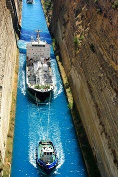 The Canal of Korinthos Greece greece Pinterest Beautiful