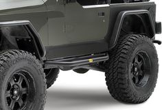 Smittybilt SRC Side Armor in Textured Black | Jeep Parts and Accessories | Quadratec