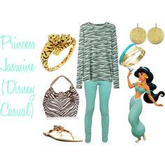 """Princess Jasmine (Disney Casual)"" by amieebee on Polyvore"