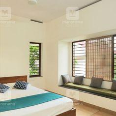 #traditionalhome #greenhome #NatureFriendly  #homestyle   പച്ചപ്പിനോട് ഇഴുകിച്ചേരുന്ന ഒരു വീട് എന്ന സ്വപ്നം പൂവണിഞ്ഞു.രാത്രിയിൽ ഫാനും നിർബന്ധമില്ല...  Indian Bedroom Design, Indian Bedroom Decor, Home Decor Bedroom, Bedroom Décor, Bed Room, Living Room Designs India, Bedroom Designs India, Bungalow House Design, Small House Design