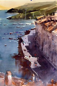 See photos, watercolours of Alvaro Castagnet an EPC Art Courses Tutor. Also learn about him and why you should take a course with him Watercolor Sketch, Watercolor Artists, Watercolour Painting, Painting & Drawing, Watercolors, Watercolor Architecture, Watercolor Landscape, Landscape Paintings, The Beautiful South