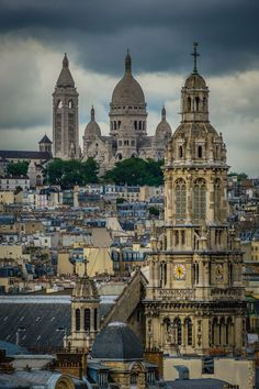 Montmatre, Paris, on an overcast day.