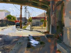 Under the 6th St. Bridge by Jennifer McChristian Oil ~ 6 x 8