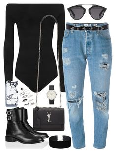 """""""Untitled #2442"""" by briarachele ❤ liked on Polyvore featuring WearAll, Yves Saint Laurent, Levi's, Christian Dior, Linea Pelle, Miss Selfridge and Topshop"""