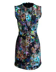 Cynthia Rowley black swirl spring 2013 dress