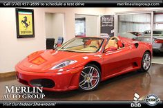 Car brand auctioned:Ferrari 430 2dr Convertible Spider Used 2009 Ferrari 430 Convertible Spider F1 4.3L 8 Cyl Corsa Red