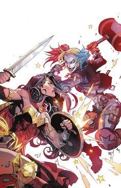 Justice League vs Suicide Squad #3 - Wonder Woman vs. Harley Quinn by Joe Madureira *