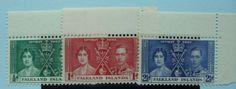 Falkland Islands Stamps 1937 Coronation SG143-145 Mint never