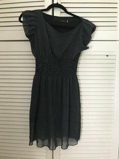 Women's / Girls Navy Poka Dot  Summer Dress size S/M #NAVY #Basic #Casual