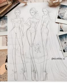 A little late night sketching. Fashion Illustration Poses, Fashion Illustration Tutorial, Fashion Drawing Tutorial, Fashion Figure Drawing, Fashion Model Drawing, Fashion Drawing Dresses, Illustration Mode, Fashion Design Sketchbook, Fashion Design Drawings