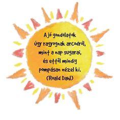 Roald Dahl idézete a gondolatok erejéről. A kép forrása: Tudatos életmód