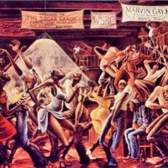 "#tbt........Ernie Barnes FAMOUS PAINTING Titled ""The Sugar Shack"" (1971). When Marvin Gaye received permission from Mr Barnes to use his pairing for the Album Cover I WANT YOU & The Theme For GOOD TIMES (1976) Mr Barnes Artwork was raised to another level. Mr Barnes DID adjusted the painting for Marvin Gaye to promote the Album  #motown #marvin #erniebarnes #goodtimes - @Greg Terrell- #webstagram Famous African American Paintings, Famous African Americans, African American History, Ernie Barnes, Black Love Art, Art Thou, Black Books, Gothic Art, Motown"