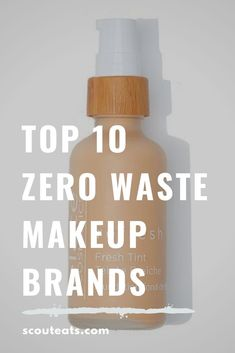 Top 10 Zero Waste Makeup Brands - Scout Eats - Top 10 Zero Waste Makeup Brands Zero Waste makeup can be hard to come by. Check out these top 10 zero waste makeup brands that are good for your skin and the environment! Zero Waste, Reduce Waste, Make Up Marken, Amazing Animals, Reduce Reuse Recycle, Diy Blog, Eco Friendly House, Green Life, Plastic